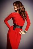 Röd klänning Arkivfoton