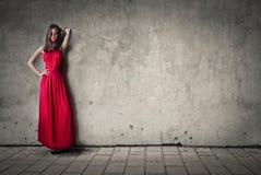Röd klänning Arkivbilder