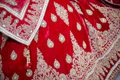 Röd klänning Arkivbild