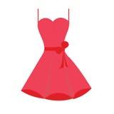 Röd klänningillustration Arkivfoto