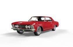 Röd klassisk bil Arkivfoto