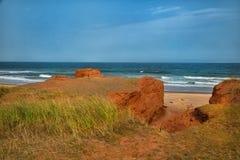Röd klippa i Magdalen öar Royaltyfri Fotografi
