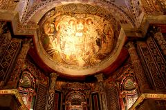 Röd kloster Egypten arkivfoto