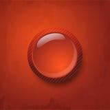 Röd knapp Arkivbild