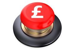 Röd knapp för pund vektor illustrationer