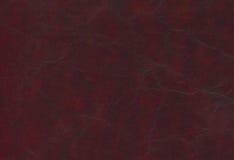 Röd kohud för bordeaux - läder Arkivbilder