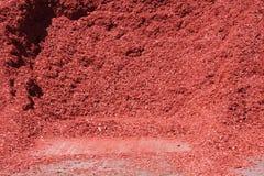 Röd komposttäckning Arkivbilder