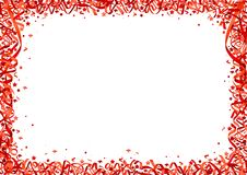 Röd konfettibakgrund Royaltyfri Fotografi