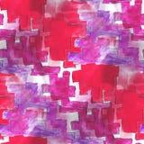 Röd konstavantgarde, purpurfärgad bakgrundshandmålarfärg royaltyfri illustrationer