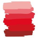 Röd konstobjektpalett Arkivfoton