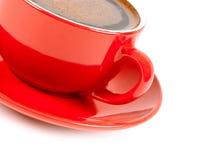 Röd kopp av coffe Arkivfoto