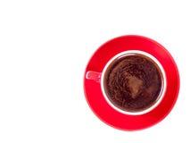 Röd kopp av coffe som isoleras på white Royaltyfria Foton