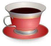 Röd kopp kaffe stock illustrationer