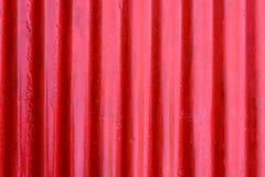 Röd korrugerad textur för stålark Royaltyfri Foto