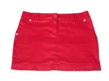 röd kort skirt royaltyfri bild