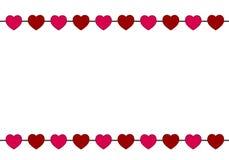 Röd korthjärtafärg royaltyfri illustrationer
