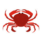 Röd krabbasymbol Arkivfoto