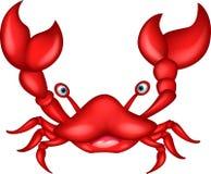 Röd krabbatecknad film Royaltyfri Fotografi