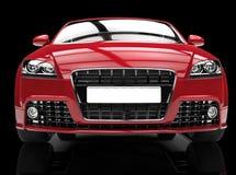 Röd kraftig bil på svart bakgrund Fotografering för Bildbyråer