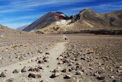 Röd krater, Nya Zeeland Arkivbilder