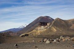 Röd krater och montering Ngauruhoe Royaltyfri Bild
