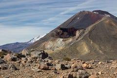 Röd krater och montering Ngauruhoe Royaltyfria Foton