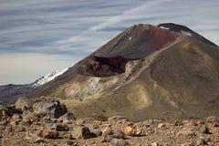 Röd krater och montering Ngauruhoe Royaltyfri Foto