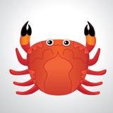 Röd kulör krabba med lappen av abstrakt begrepp för reflekterat ljus Royaltyfri Bild