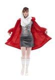 röd kvinna Arkivfoto