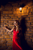 röd kvinna Royaltyfria Foton