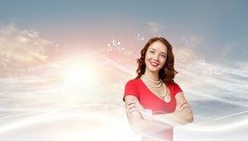röd kvinna Royaltyfri Fotografi