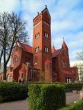 Röd kyrka Fotografering för Bildbyråer