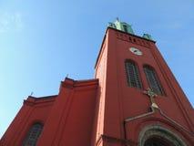 Röd kyrka Royaltyfri Foto