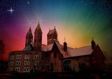Röd kyrka Royaltyfri Fotografi