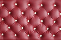 Röd lädertexturfåtölj Royaltyfri Fotografi
