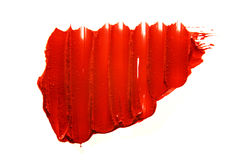 Röd läppstiftfläck Royaltyfri Bild