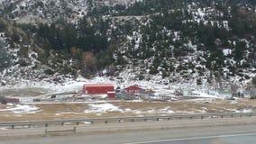 Röd ladugård Arkivbild