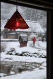 Röd lampa Royaltyfria Foton