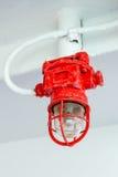 Röd lampa på färjan royaltyfria bilder
