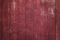 Röd lantlig gammal wood bakgrund Royaltyfria Foton