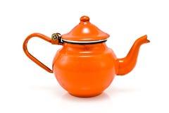 röd lantlig tea för gammal kruka royaltyfria bilder