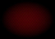 Röd laser-rasterdiagonal i elipse Royaltyfri Bild