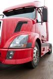 röd lastbil Royaltyfri Fotografi