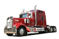 röd lastbil Royaltyfri Bild