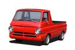 röd lastbil för gammal hacka upp Royaltyfria Bilder