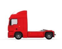 Röd lastleveranslastbil Royaltyfri Bild