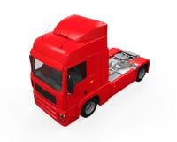 Röd lastleveranslastbil Arkivfoto