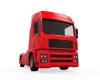 Röd lastleveranslastbil Royaltyfria Foton