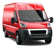 Röd lastskåpbil Royaltyfri Bild