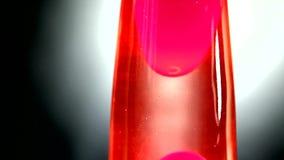 Röd lavalampa arkivfilmer